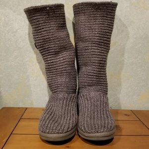 Preowned Knit Gray Tall UGG Boots sz 8